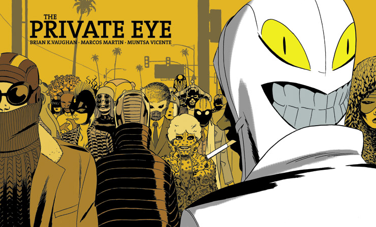 Brian K Vaughan and Marcos Martin's series The Private Eye is released via their Panel Syndicate Website for a price of your choice!