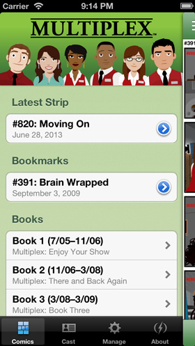 Multiplex iPhone app