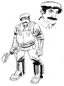 Super Mario Brothers 2: The Comic concept art