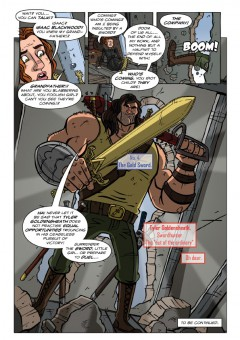 """""""[In issue 2] Expect acrobatic action, explosive alien action, a hint of cosmic horror and  of course, lots more swords!"""""""