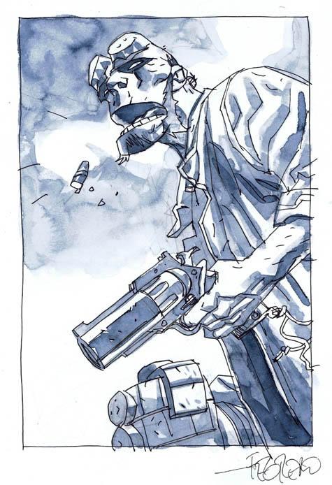 Hellboy convention sketch by Duncan Fegredo
